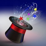 Cigma Magic Top Hat with Stars - for white BG-72